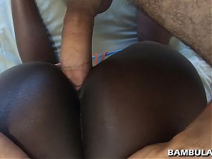 Young ebony creampie farting and bubbling