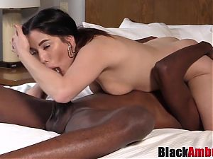 Latina Ivy tricked into fucking first black cock on camera