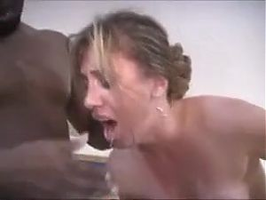 Two Black Cocks Ejaculate Inside Wife And Husband Cleans